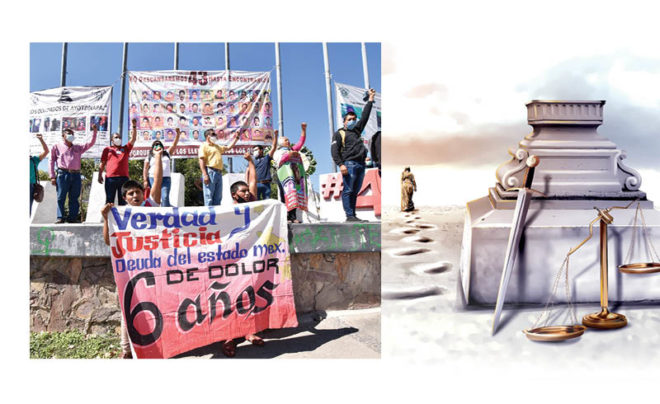 Un caso emblemático de desaparición forzada es el de los 43 estudiantes de la Normal de Ayotzinapa, en Guerrero.